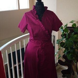 Purple short sleeved dress